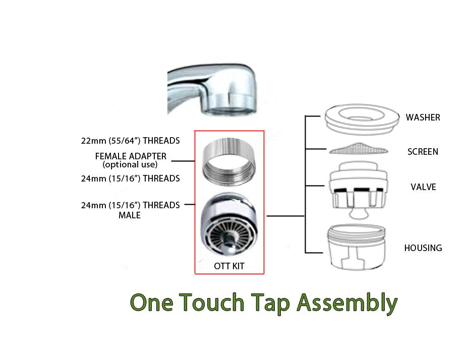 Kitchen Sink Aerator Assembly